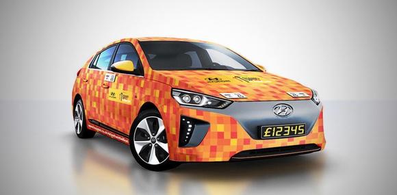Hyundai показала первый бесконтактный автомобиль на базе Ioniq