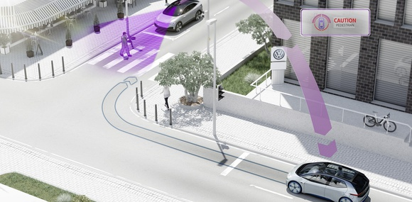 Volkswagen научит автомобили «общаться» с другими машинами