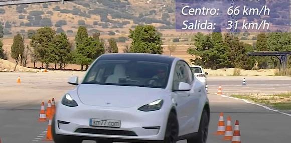 Tesla Model Y проявил лучшие качества на лосином тесте