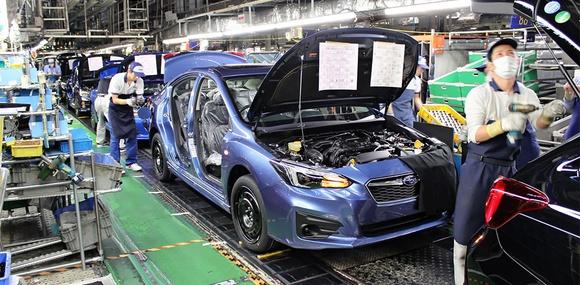 Завод Subaru в Японии остановил работу