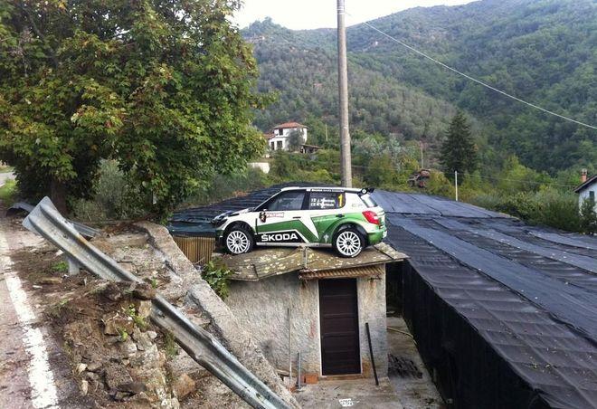 Припарковался на крыше — ралли в Сан Ремо, Юхо Хяннинен на Skoda