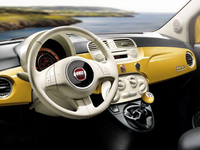 Fiat 500 — интерьер